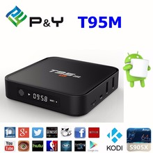 Hot sale T95M Amlogic S905 android6.0 tv box 1g 8g or 2g 8g Quad Core kodi 16.0 android iptv set top box