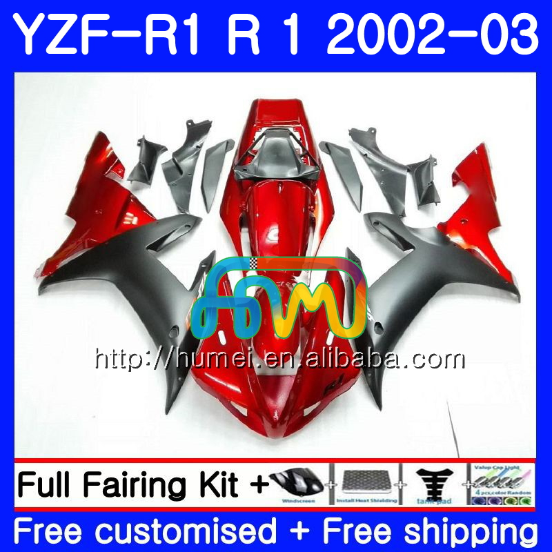 Body For YAMAHA YZF 1000 YZFR1 <strong>02</strong> <strong>03</strong> red black YZF-1000 Bodywork 99HM10 YZF R 1 YZF <strong>R1</strong> <strong>02</strong> <strong>03</strong> YZF1000 YZF-<strong>R1</strong> 2002 2003 <strong>Fairing</strong>