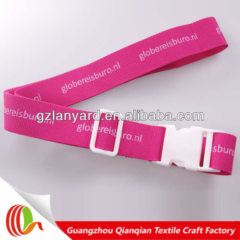 Handbag baggage strap with detachable buckle