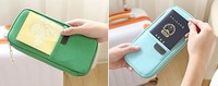 Simple Passport case Credit ID Card Cover Holder Travel wallet with Pen holder