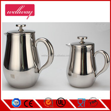 New Product Double Wall Stainless Steel Round Coffee Filter Press/French Coffee Press