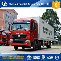 Good Performance HOWO 6x2 Cargo Van Transportation Truck Heavy duty van 20 tons HOWO 20ft container truck Competitive price