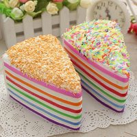 Jumbo Rainbow Fake Cake Decorating Squishy