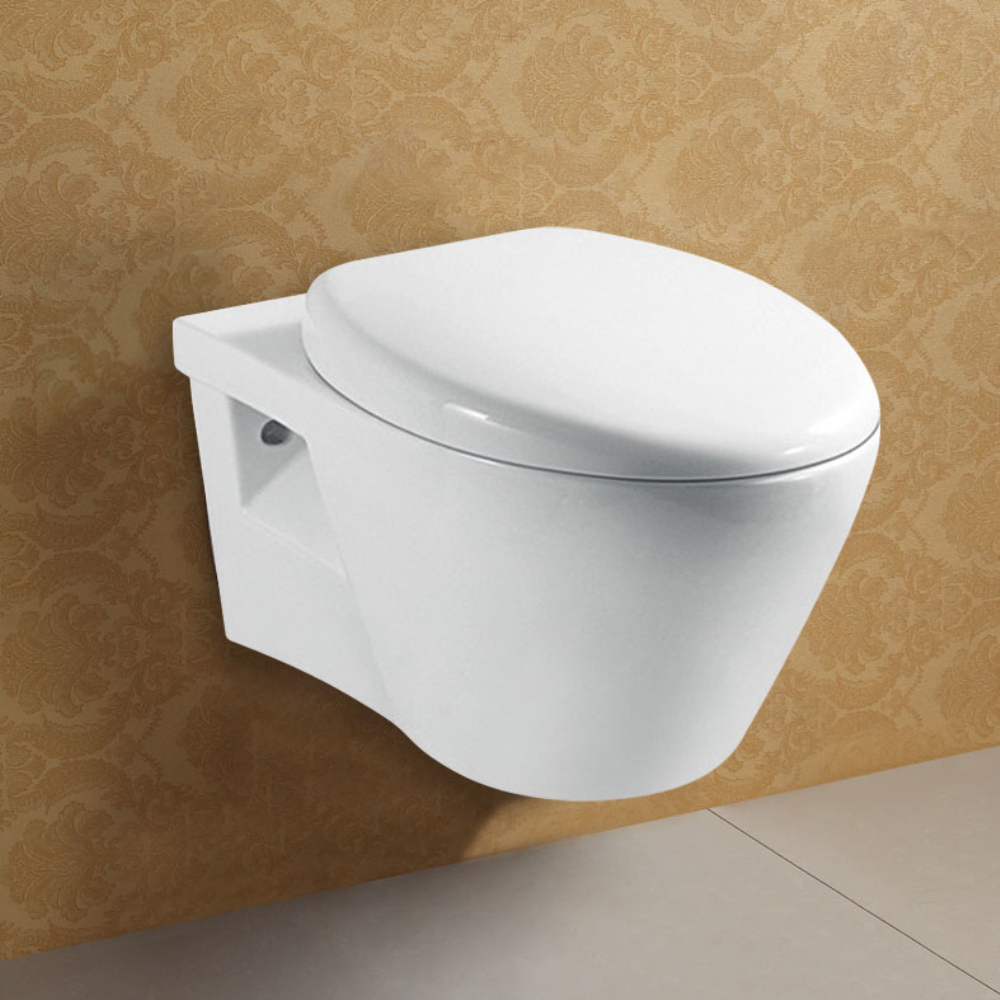 European Style Concealed Tank Bathroom Wall Hung Toilet