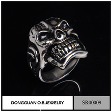 Stainless Steel Titanium Skull Head Ring/The Expendables Skull Ring Wholesale