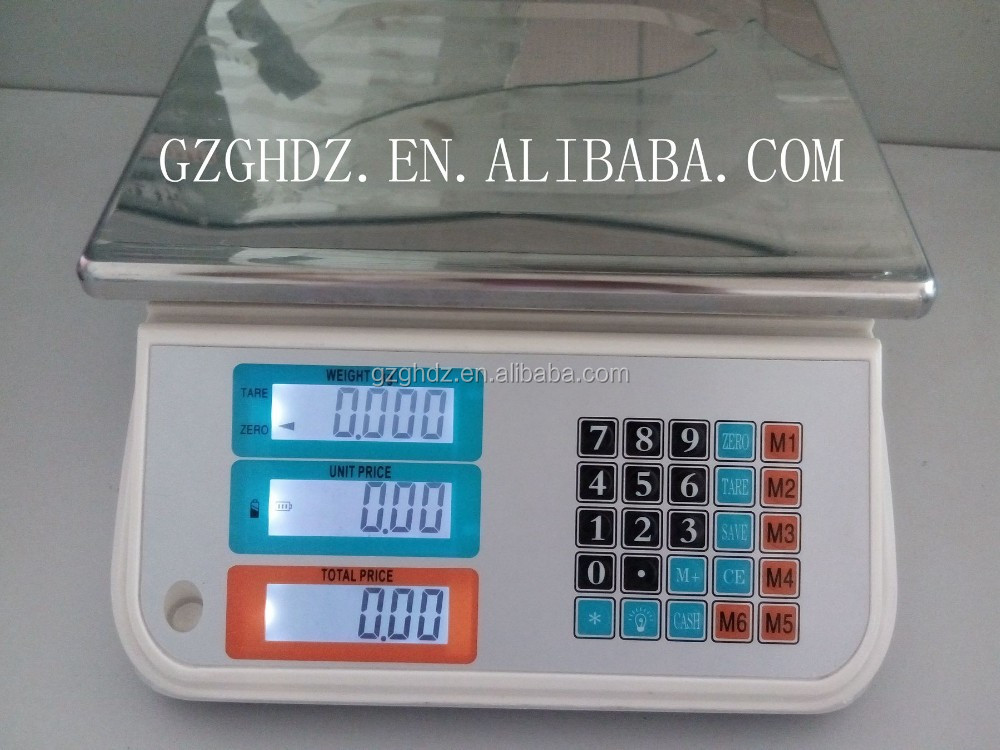 30kg 5g all seal price computing digital waterproof scale for seafood