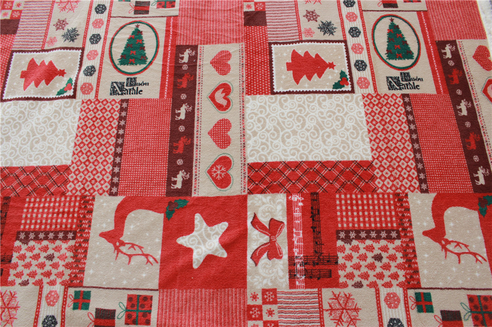 Wholesale Christmas Style Coral Fleece Fabric for Blanket