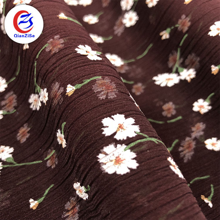Best selling Fashion digital printed Customized 100 polyester crepe chiffon fabric