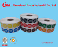 printing adhesive labels stickers, adhesive day dot labels