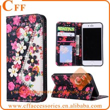 For Samsung Galaxy S3 S4 S5 Floral Flip Wallet Leather Phone Case 3D Diamonds pearls Flowers Pattern Snap on Funda Coque