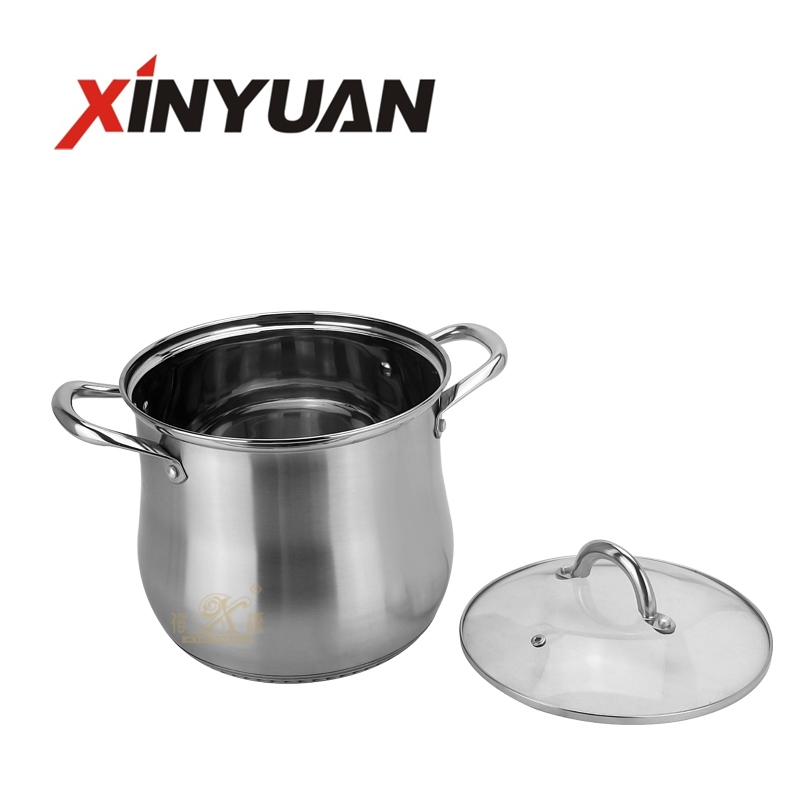 Economic and reliable different model cookware stock soup cooking stainless steel pot