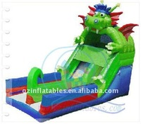 (Qi Ling) green dragon inflatable dry slide