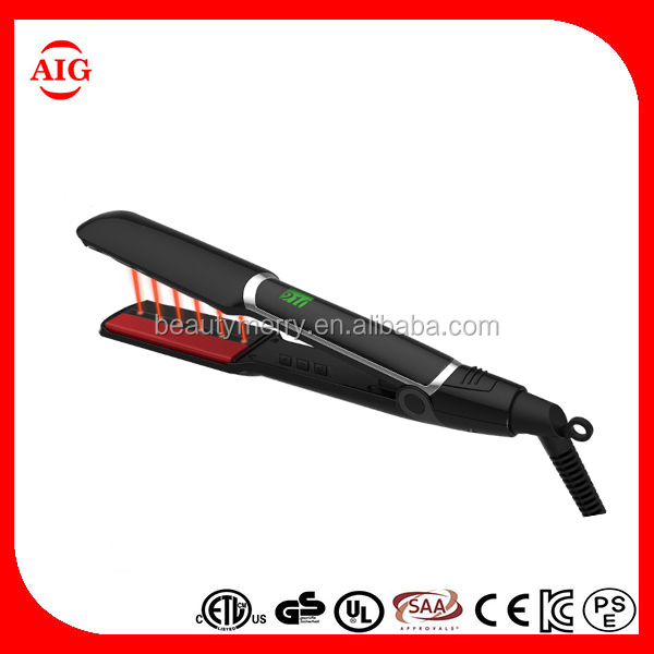 New Arrival Fashion Heat Hair Iron Infrared Flat Iron,electric flat irons ultrasonic infrared hair straightener