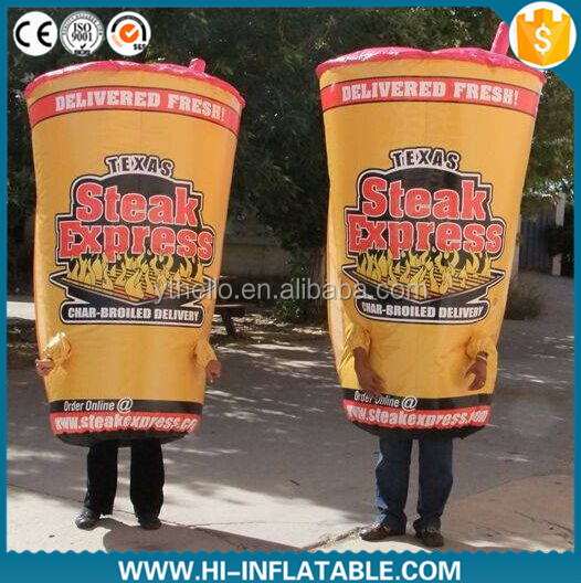2015 Excellent design giant inflatable coffee cup,inflatable moving cartoon in hot sale