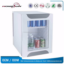 Thermoelectric glass door fridge, single door home refrigerator
