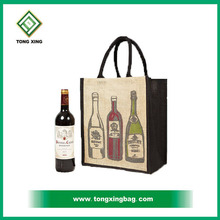 High Quality Canvas cotton Single Bottle Wine Packing Bag