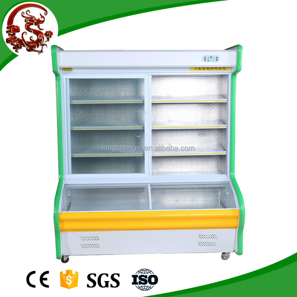 Commercial refrigerator meat fruit vegetable using display fridge/cooler display
