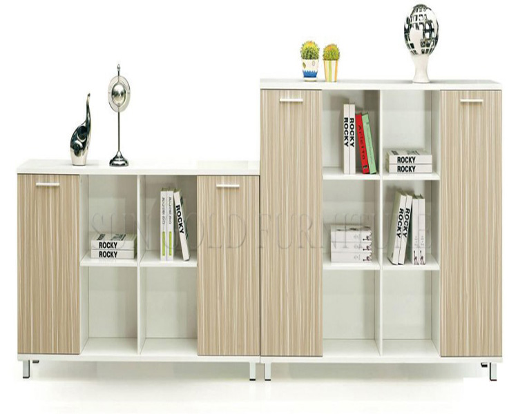Customized design bookcase office modem glass door cabinet (SZ-FCB399)
