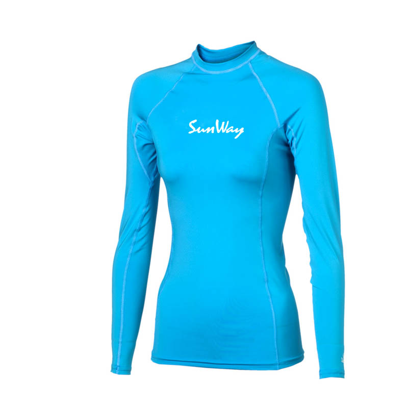 Skin protection swimming shirt top women UV rash guards shirt lady rashguards swimwear rash vest
