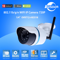 1280*720 pixel ptz wifi wireless ip bullet camera onvif support ip camera wifi