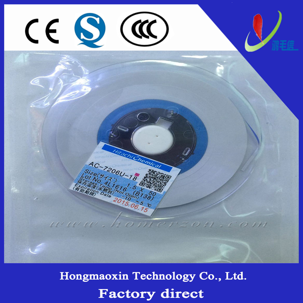 Anisotropic Conduction Film Hitachi ACF Conductive Strip Adhesive AC-7206U-18 For FPC PCB TCP ICD