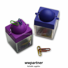 Square Shaped Magnetic paper clip holder with a Magnetic Ball
