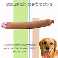 2014 soft rubber sausage dog toy funny chewing squeaky toys