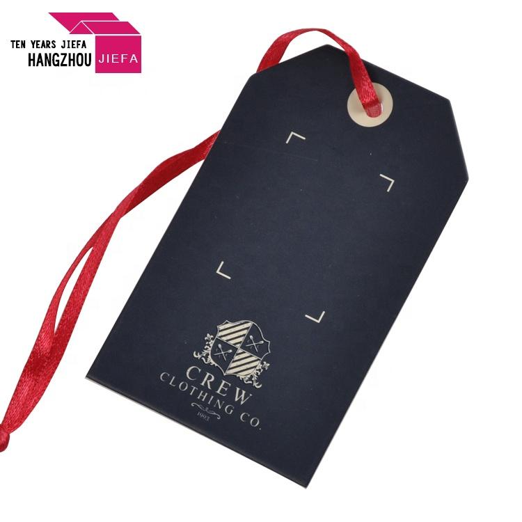 White Cardboard Paper Custom String Hang Tag Logo for Clothing