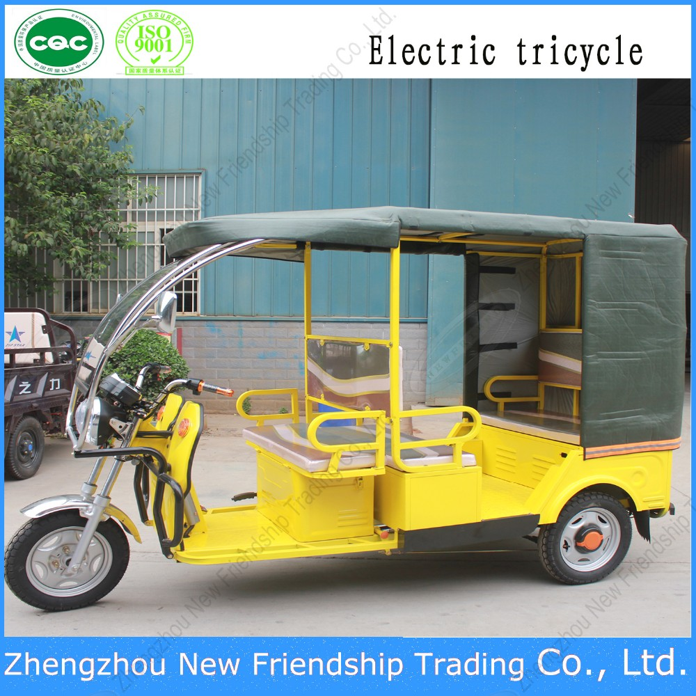 New product 4 seater bicycle rickshaw tricycle taxi