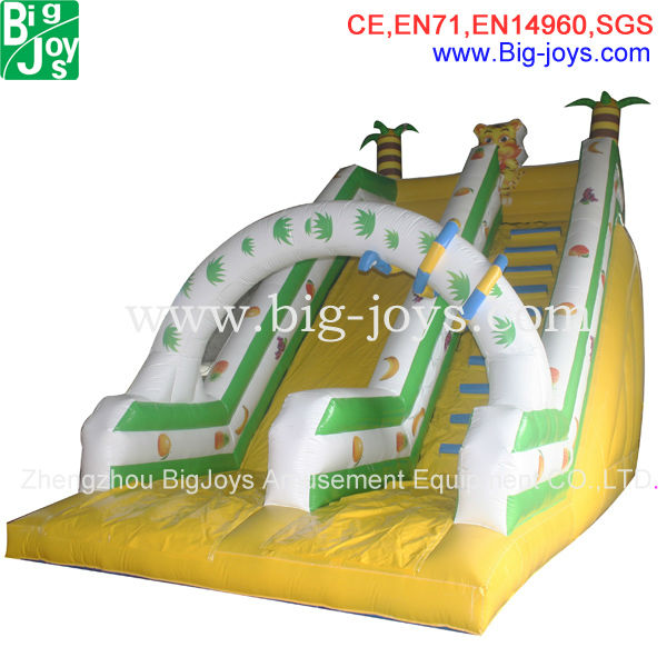 top sale exciting interesting inflatable spiral water slide,inflatable small pool water slide