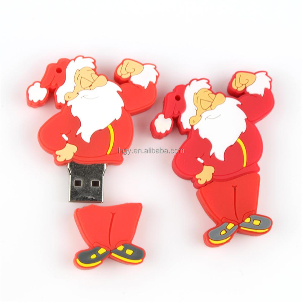 2015 promotion pen drive Santa Claus 4gb usb flash drive for christmas gift