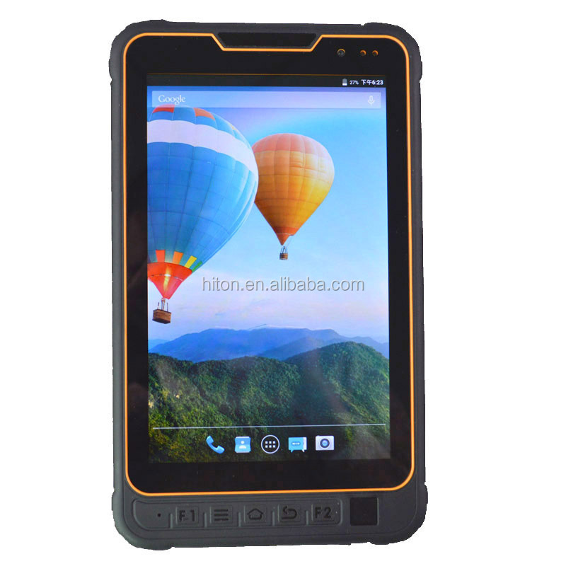 8inch android quad core industrial embedded tablet pc with IC card reader 2D barcode scanner rugged computer with fingerprint
