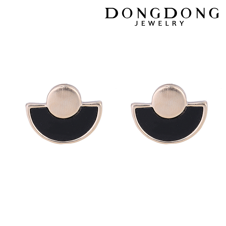 dongdong DD-ES-059 wholesale fashion 14k gold plated stainless steel earring for women