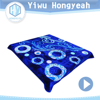 China manufacture suppliers luxury knitting 100% polyester blanket
