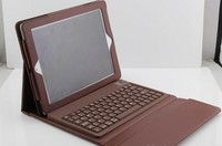 Groupon Ipad Wireless Bluetooth 3.0 Silicone Keyboard With Leather Stand Cover Case For ipad 2 3 Wireless Ipad Keyboard