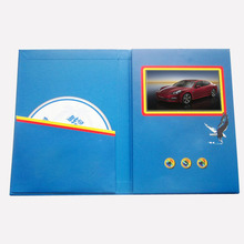 Popular 2.4'' 4.3''5 inch invitation card lcd digital business card