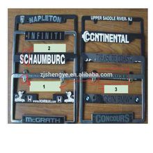 wholesale promotional american custom embossed stainless steel license plate frame