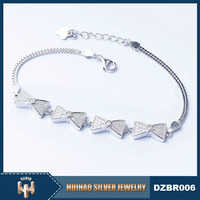 China Manufacturer silver 925 bracelet jewerly with cz