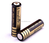 Original Ultrafire 18650 4000mAh battery UltraFire BRC 18650 4000mAh 3.7V Rechargeable Li-ion Battery Gold