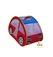 190T Polyester Car Shape Kids Play Tent for Child Outdoor or Indoor Playing Funny Games 6-panel Popup Kids Playpen Tent for sale