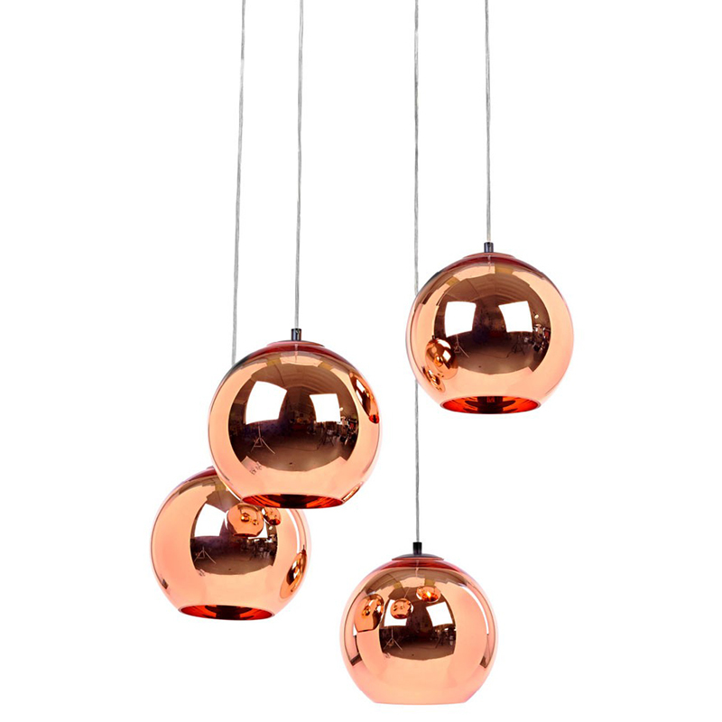 Factory wholesale Modern hand blown copper shade glass pendant <strong>lamp</strong>