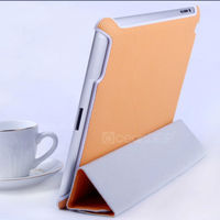 newest design leather smart cover folio case for Apple ipad 4 tablet