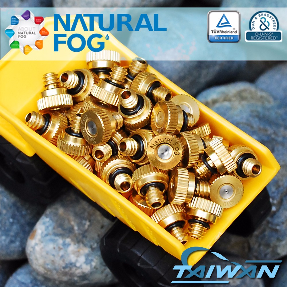 Taiwan Natural Fog Vegetable Growing Anti Drip Humidifying Brass Water Mist Spray Nozzle