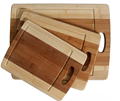 Double color kitchen bamboo cutting board set