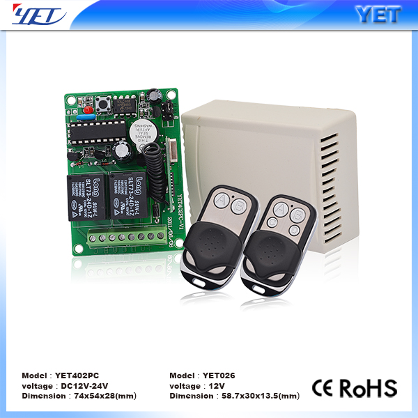 China factory YET universal remtoe control receiver YET402PC for garage doors/ shutter garage