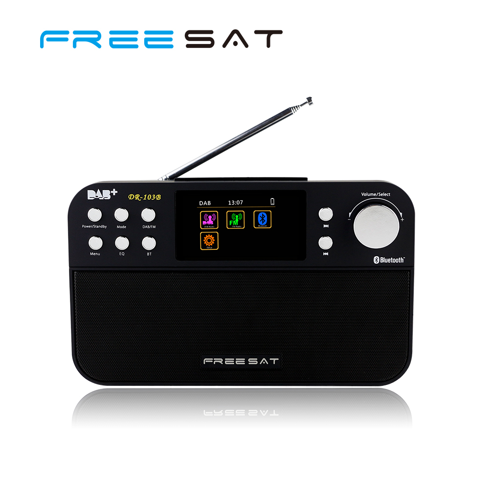 2.4inch Pocket Freesat DAB+ Digital FM Radio Program detail show smallest bluetooth receiver With Color Screen