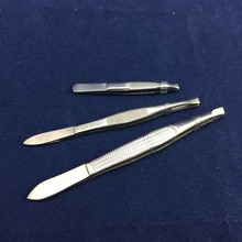 private label eyelash tweezers tainless steel eyelash applicator