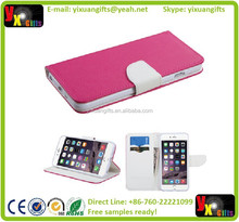 HOT PINK WHITE IPHONE6 PLUS WALLET PROTECTOR COVER CASE