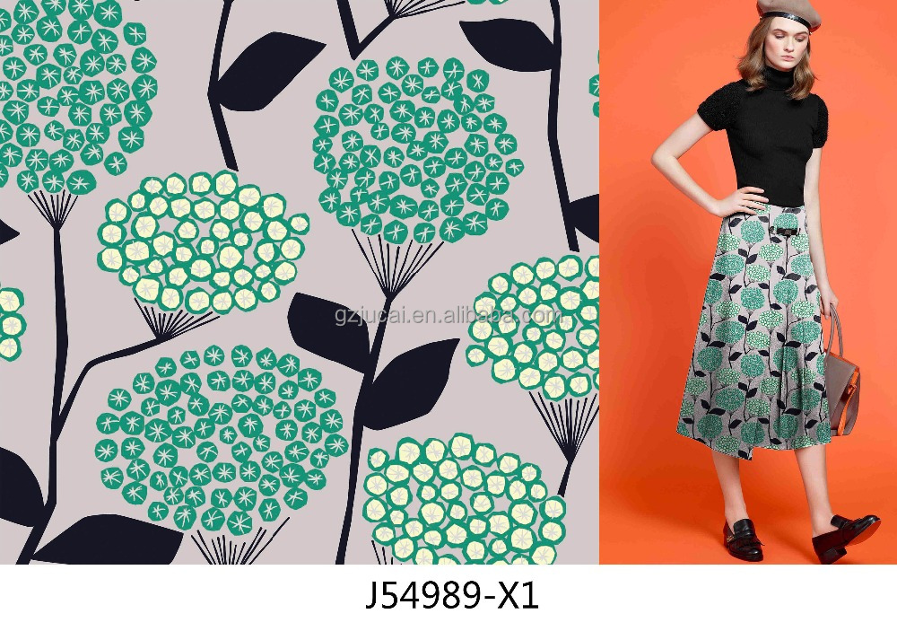 custom summer floral flower printed twill fabrics hot selling jacquard printing fabrics stocklot