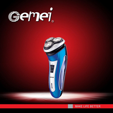 New professional washable Gemei Men's Shaver(Razor) with three Heads gemei